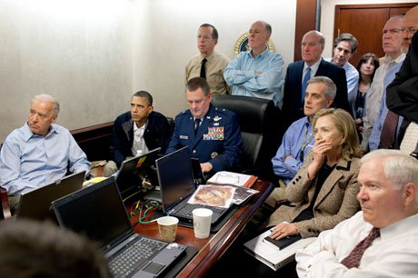 The White House anxiously watches the strike on bin Laden